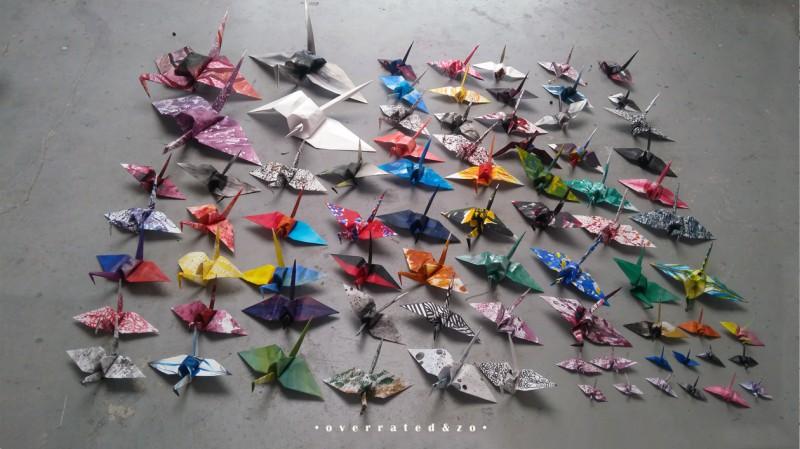 origami kraanvogel overzicht