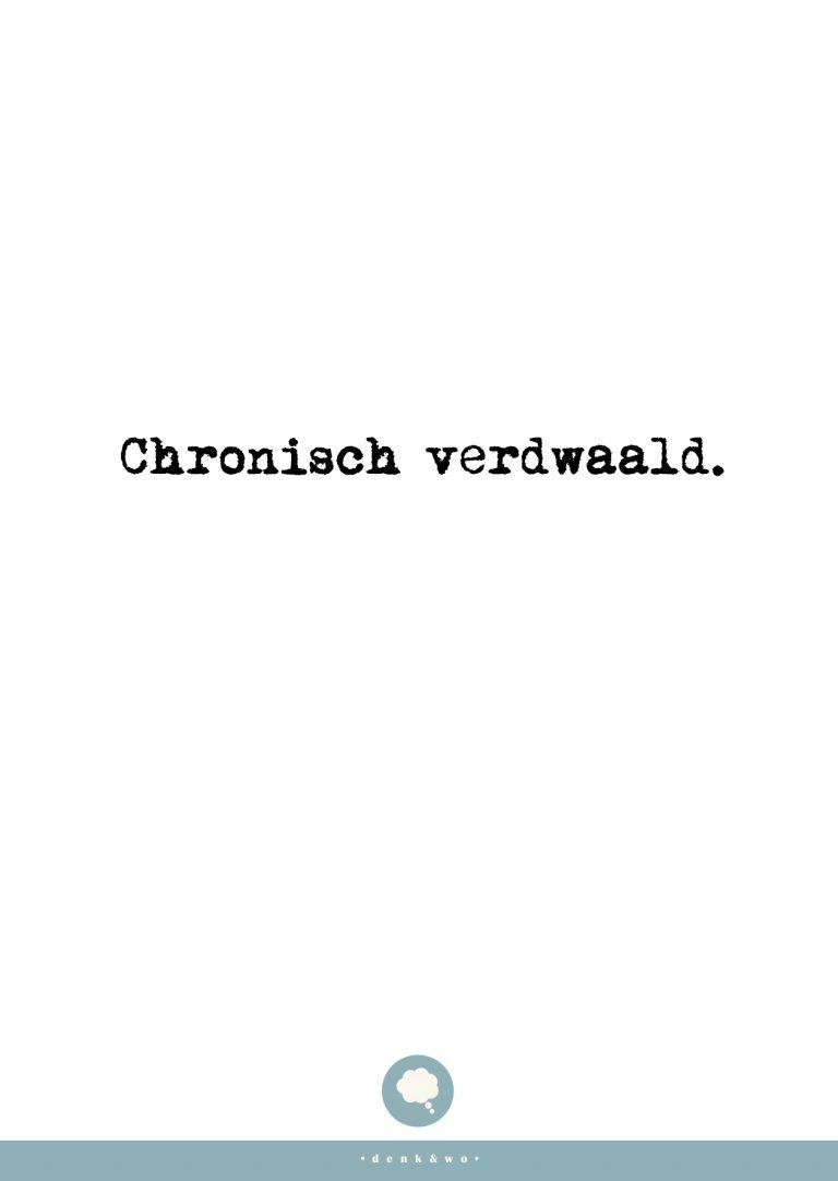 • Verdwaald •